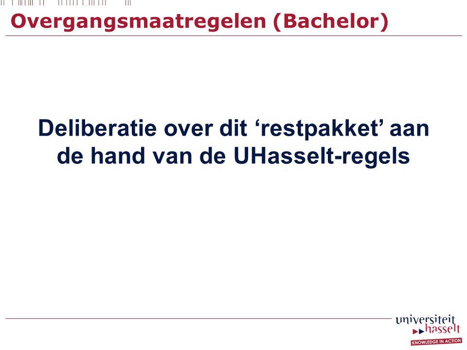 Overgangsmaatregelen (Bachelor)