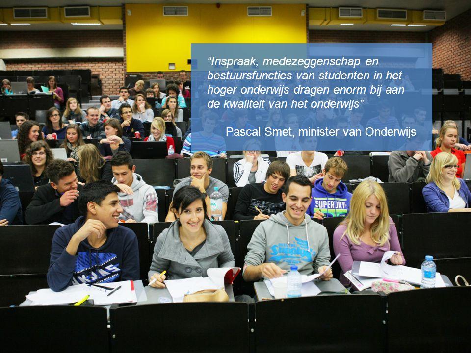 Inspraak, medezeggenschap en bestuursfuncties van studenten in het hoger onderwijs dragen enorm bij aan de kwaliteit van het onderwijs
