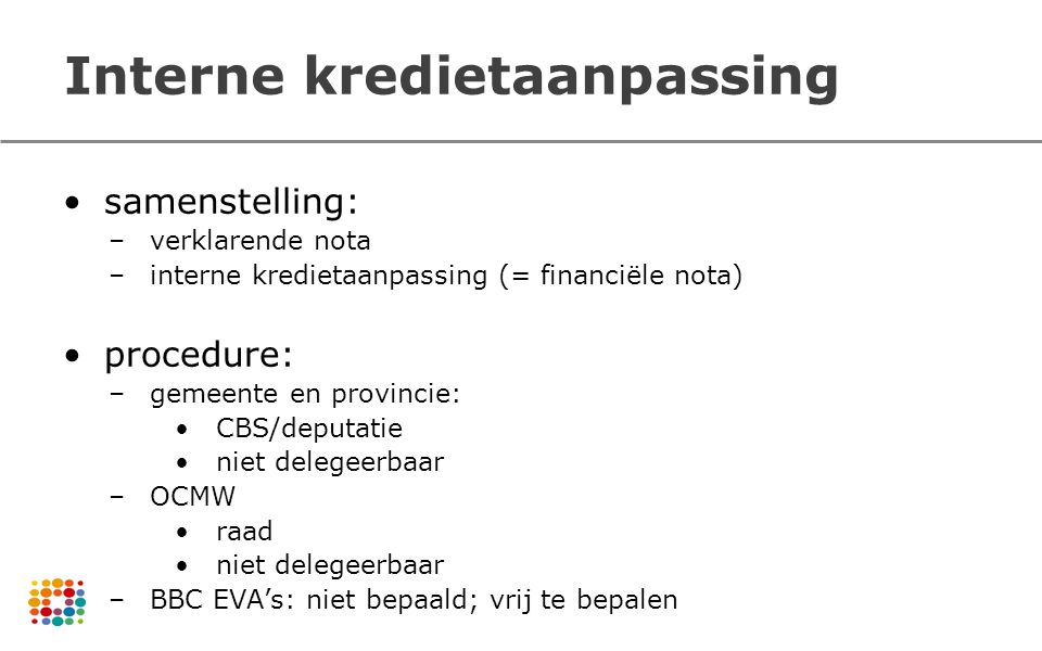Interne kredietaanpassing