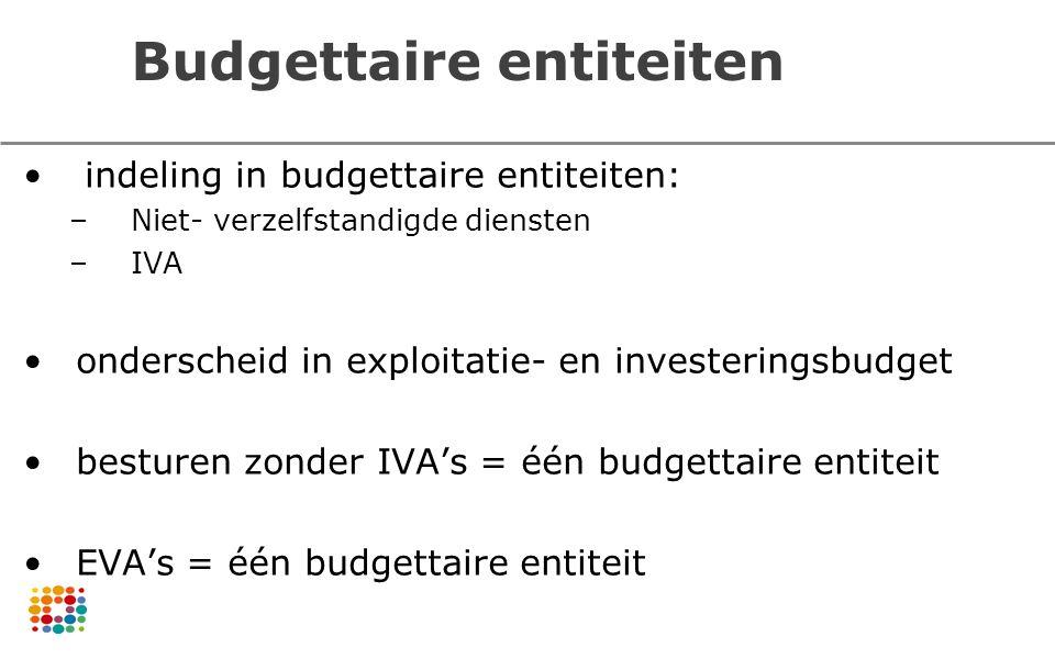 Budgettaire entiteiten