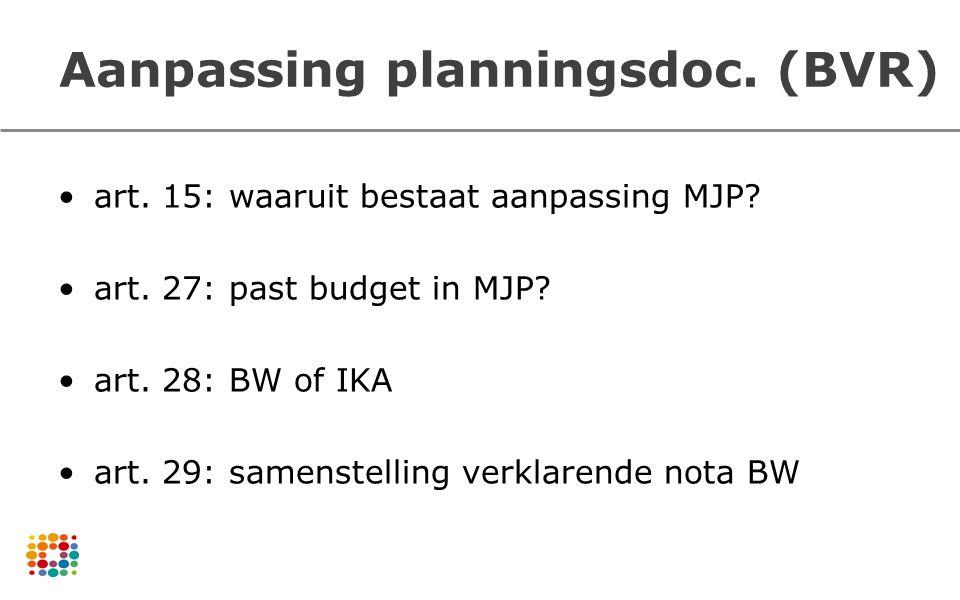 Aanpassing planningsdoc. (BVR)