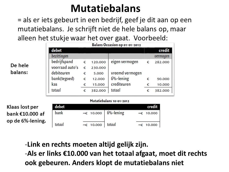 Mutatiebalans