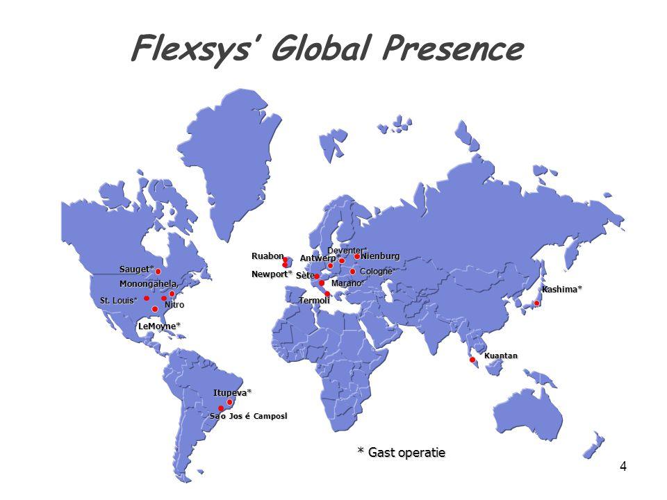 Flexsys' Global Presence