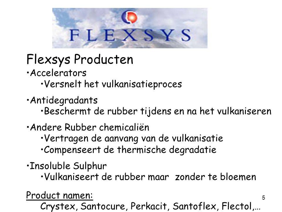 Flexsys Producten Accelerators Versnelt het vulkanisatieproces