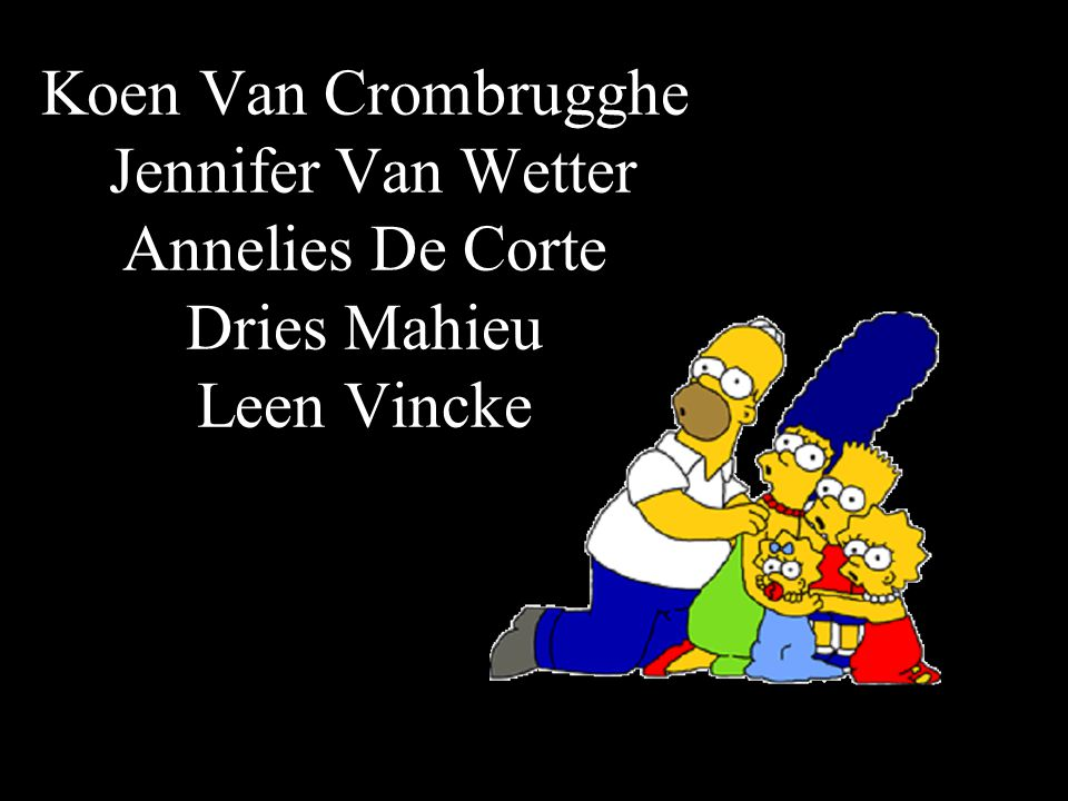 Koen Van Crombrugghe Jennifer Van Wetter Annelies De Corte Dries Mahieu Leen Vincke