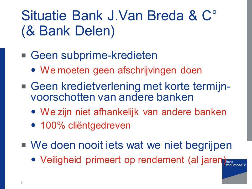 Situatie Bank J.Van Breda & C° (& Bank Delen)