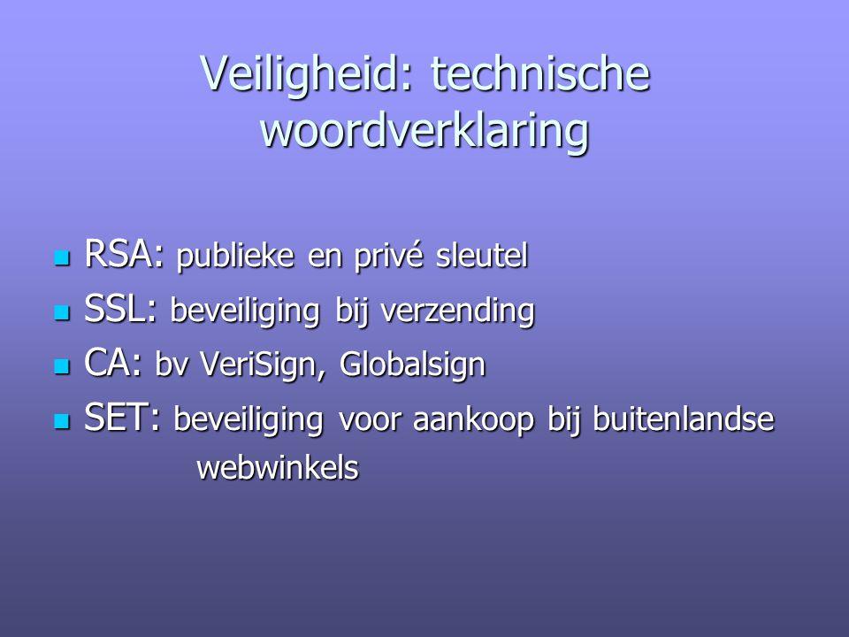 Veiligheid: technische woordverklaring