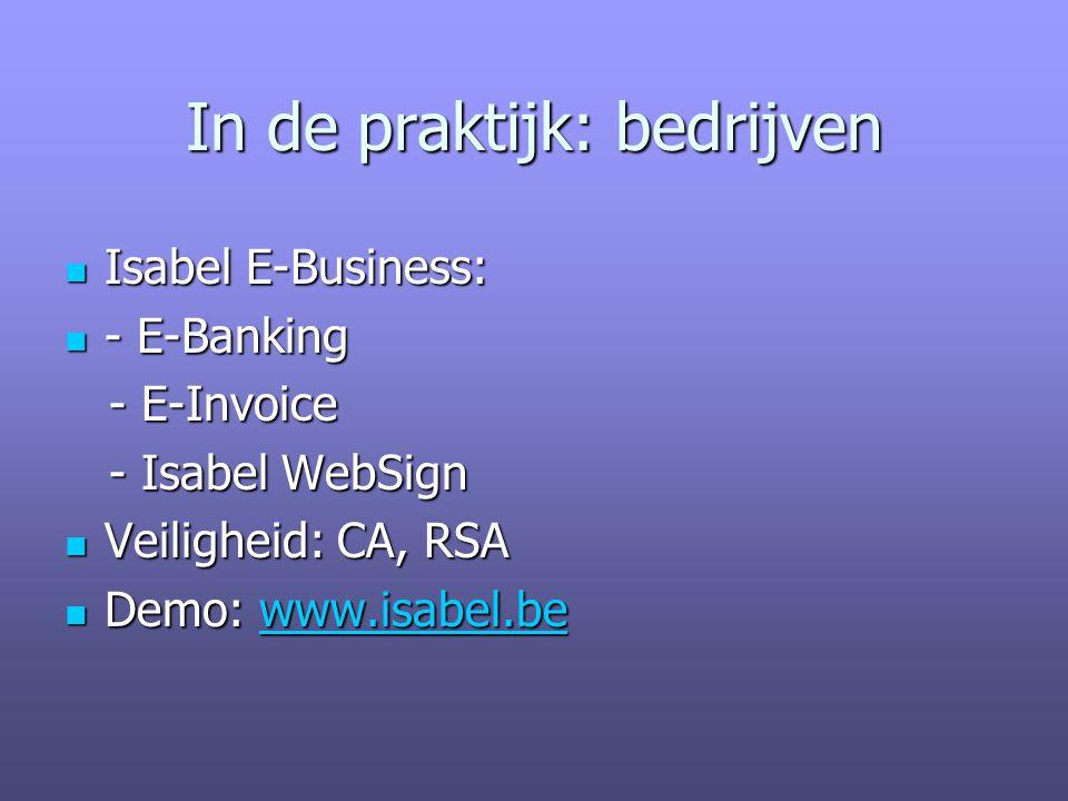 In de praktijk: bedrijven