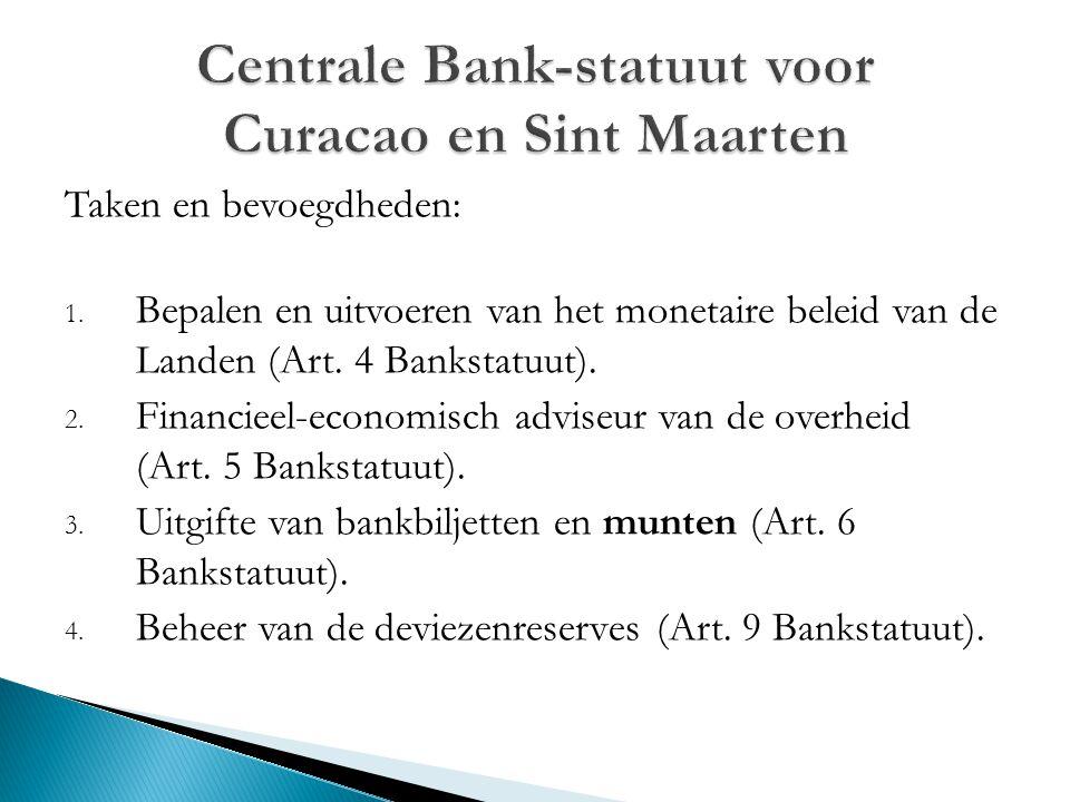 Centrale Bank-statuut voor Curacao en Sint Maarten