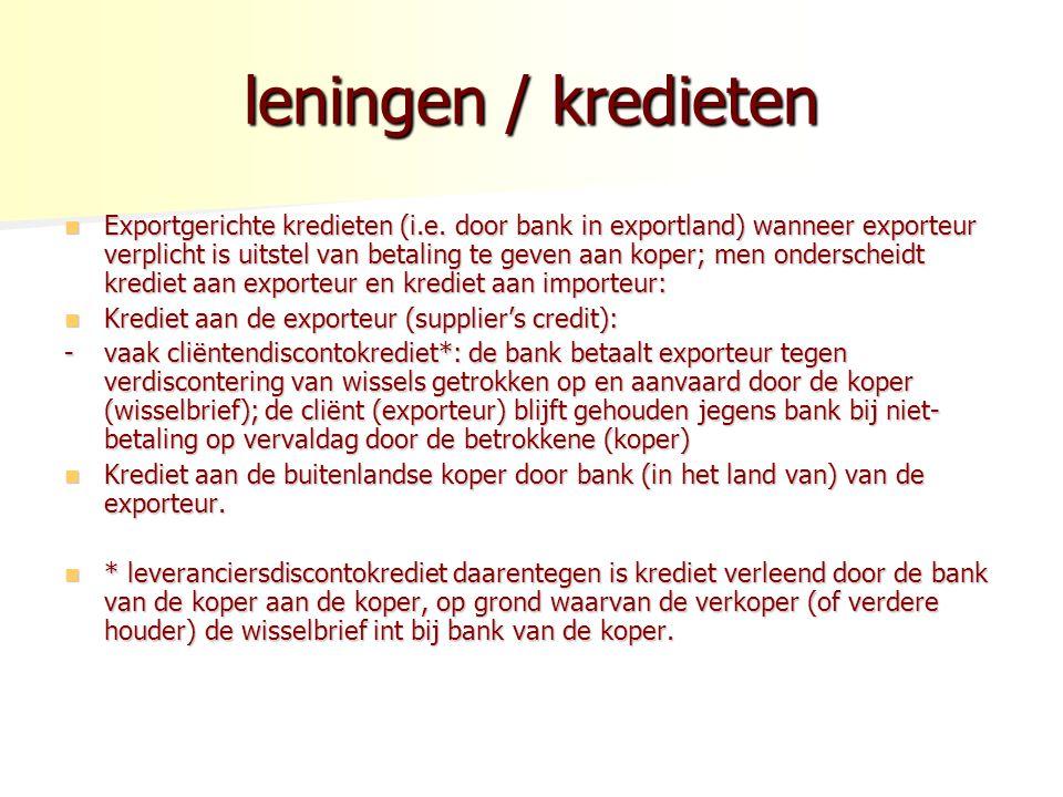 leningen / kredieten