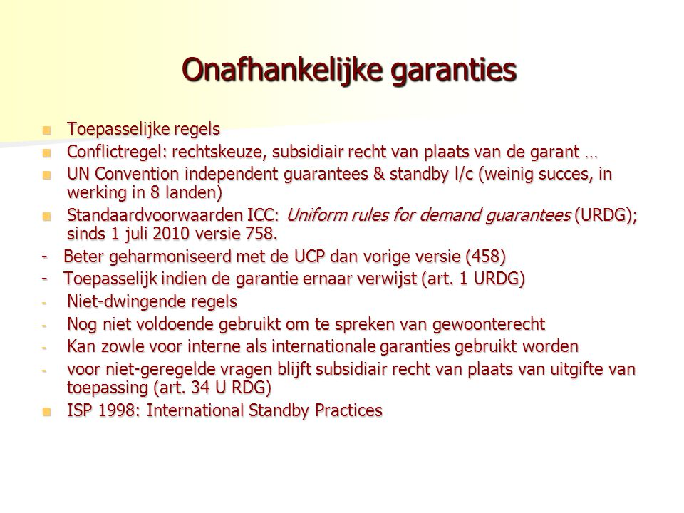 Onafhankelijke garanties