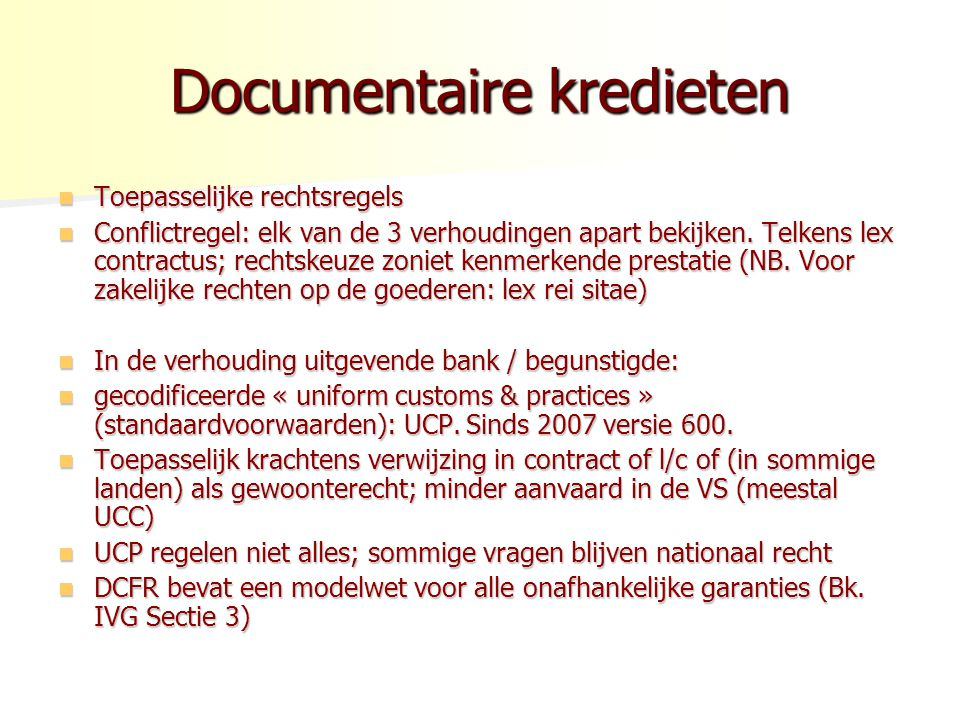 Documentaire kredieten