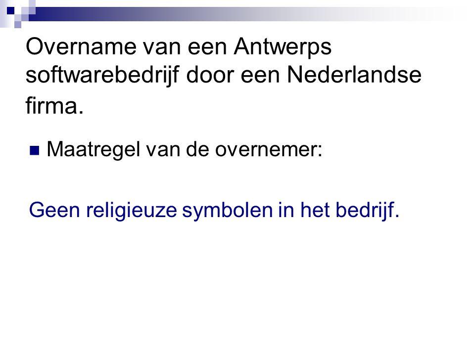 Overname van een Antwerps softwarebedrijf door een Nederlandse firma.