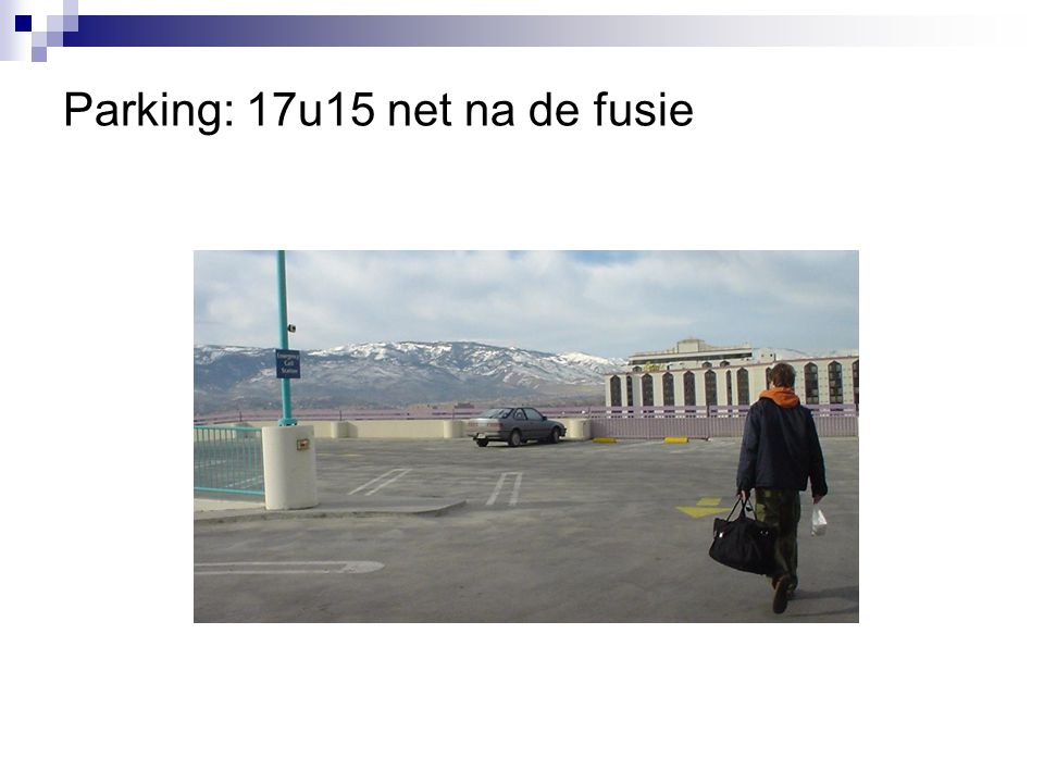 Parking: 17u15 net na de fusie