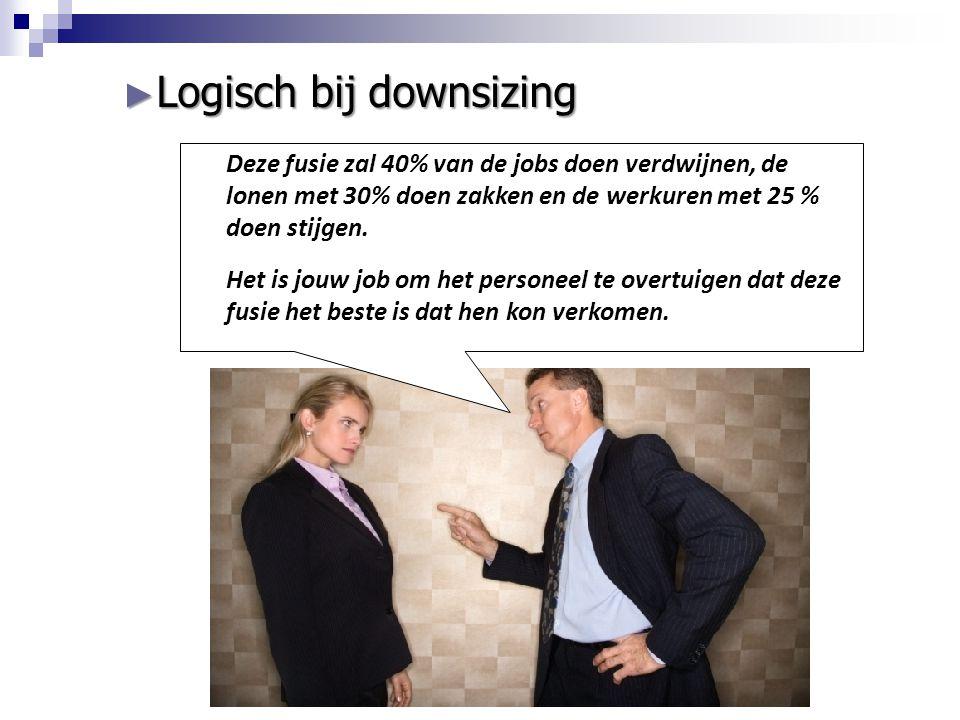 Logisch bij downsizing