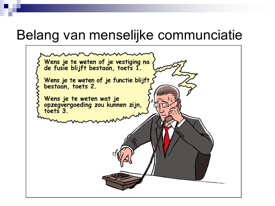 Belang van menselijke communciatie