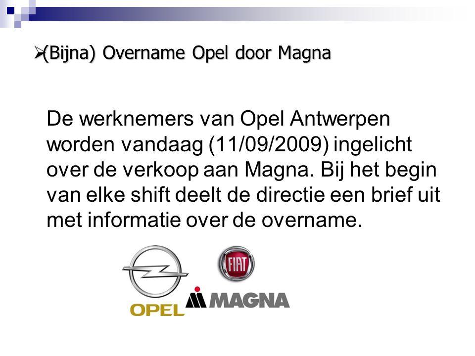 (Bijna) Overname Opel door Magna