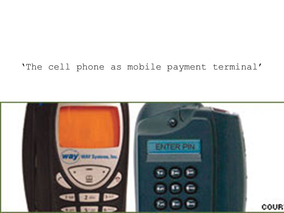 'The cell phone as mobile payment terminal'