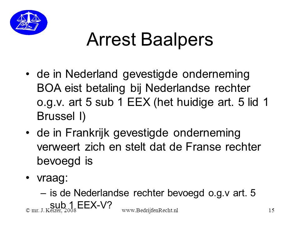Arrest Baalpers
