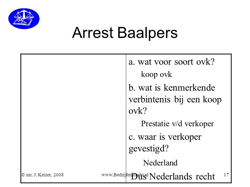 Arrest Baalpers a. wat voor soort ovk