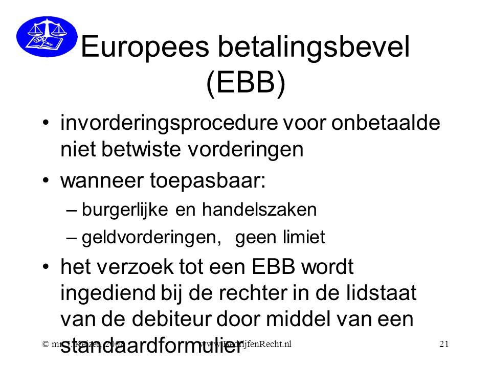 Europees betalingsbevel (EBB)