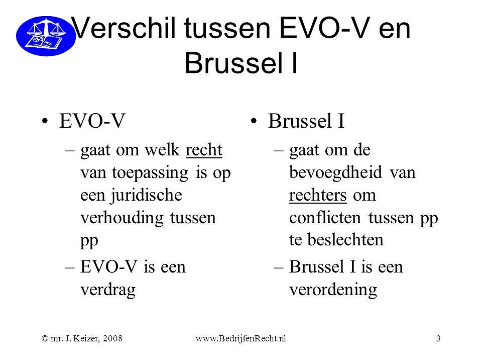 Verschil tussen EVO-V en Brussel I