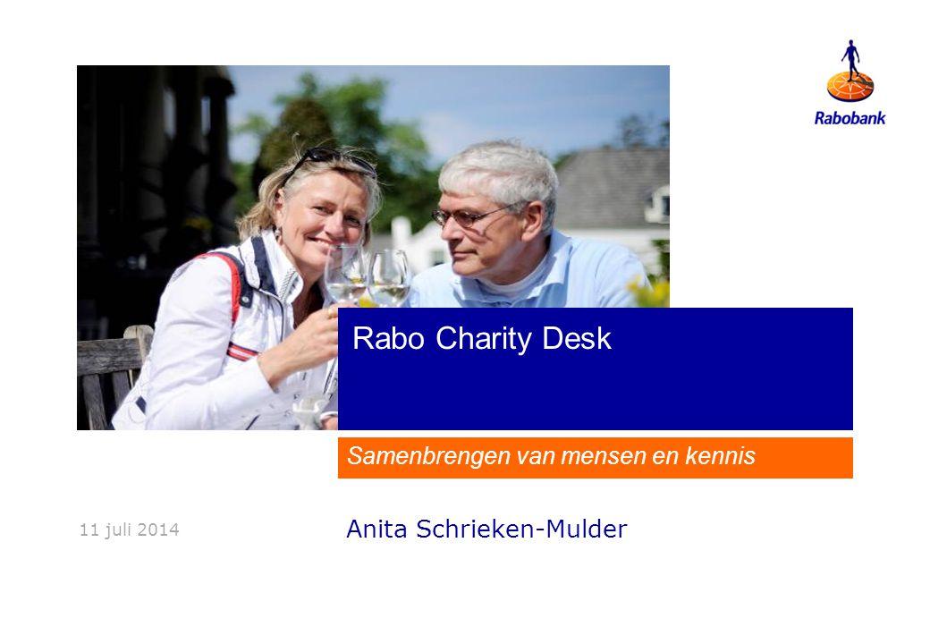Rabo CharityDesk Samenbrengen van mensen en kennis