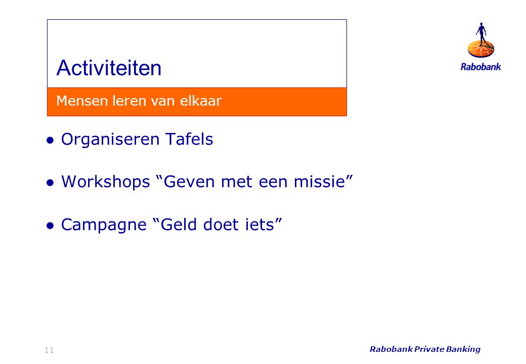 Activiteiten Organiseren Tafels Workshops Geven met een missie