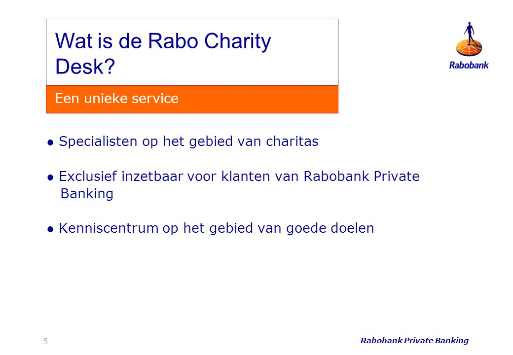 Wat is de Rabo Charity Desk
