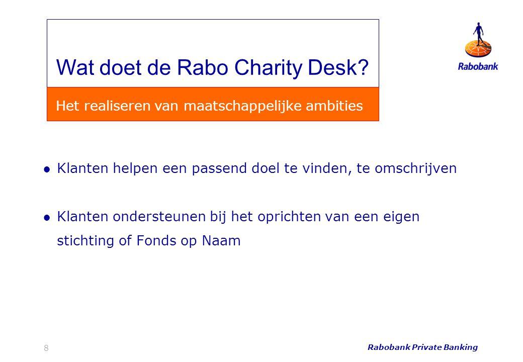 Wat doet de Rabo Charity Desk