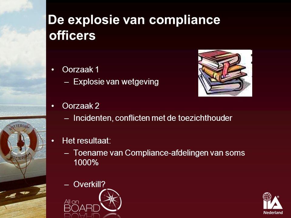 De explosie van compliance officers
