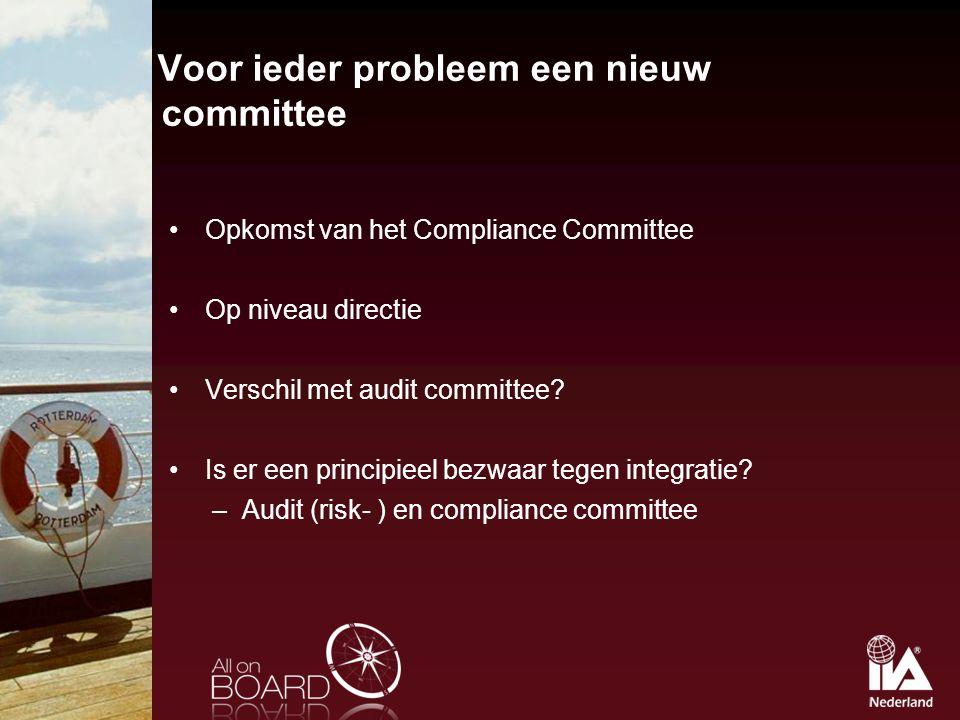 Voor ieder probleem een nieuw committee