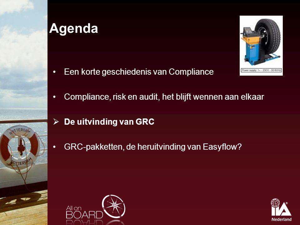 Agenda Een korte geschiedenis van Compliance
