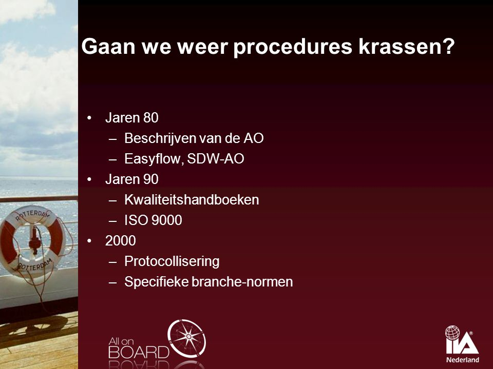 Gaan we weer procedures krassen