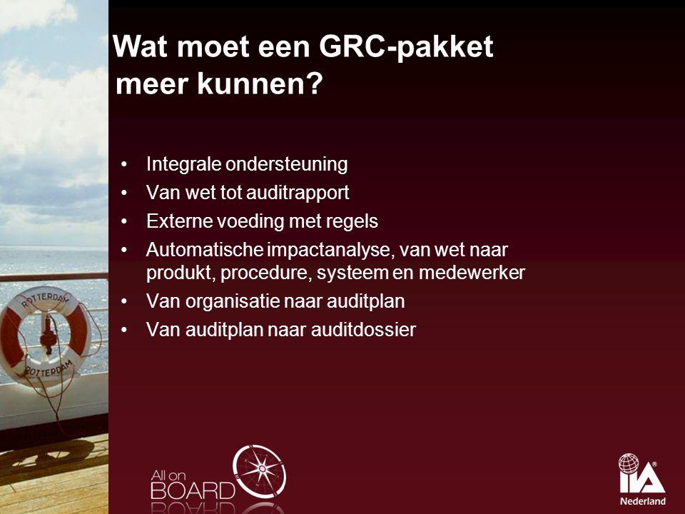 Wat moet een GRC-pakket meer kunnen