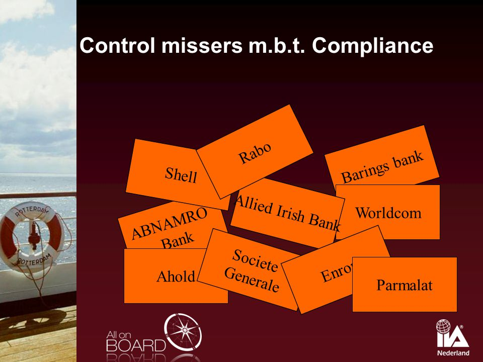 Control missers m.b.t. Compliance