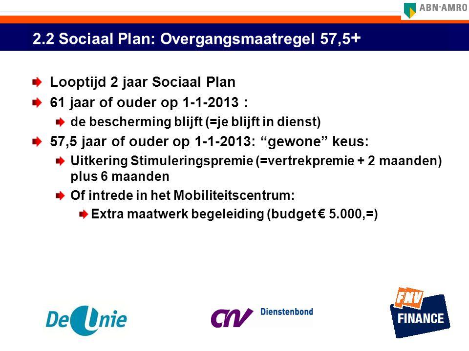 2.2 Sociaal Plan: Overgangsmaatregel 57,5+