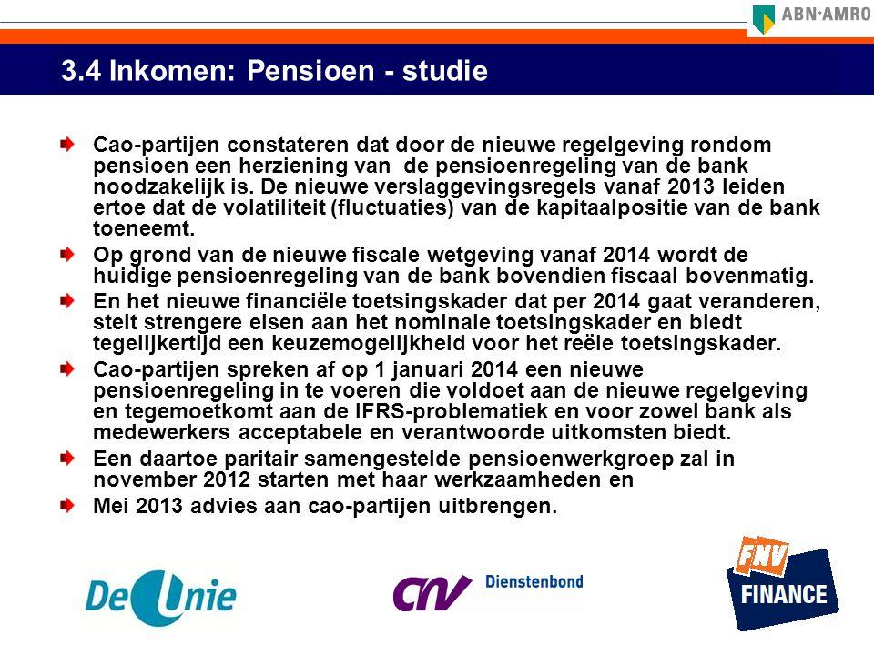 3.4 Inkomen: Pensioen - studie