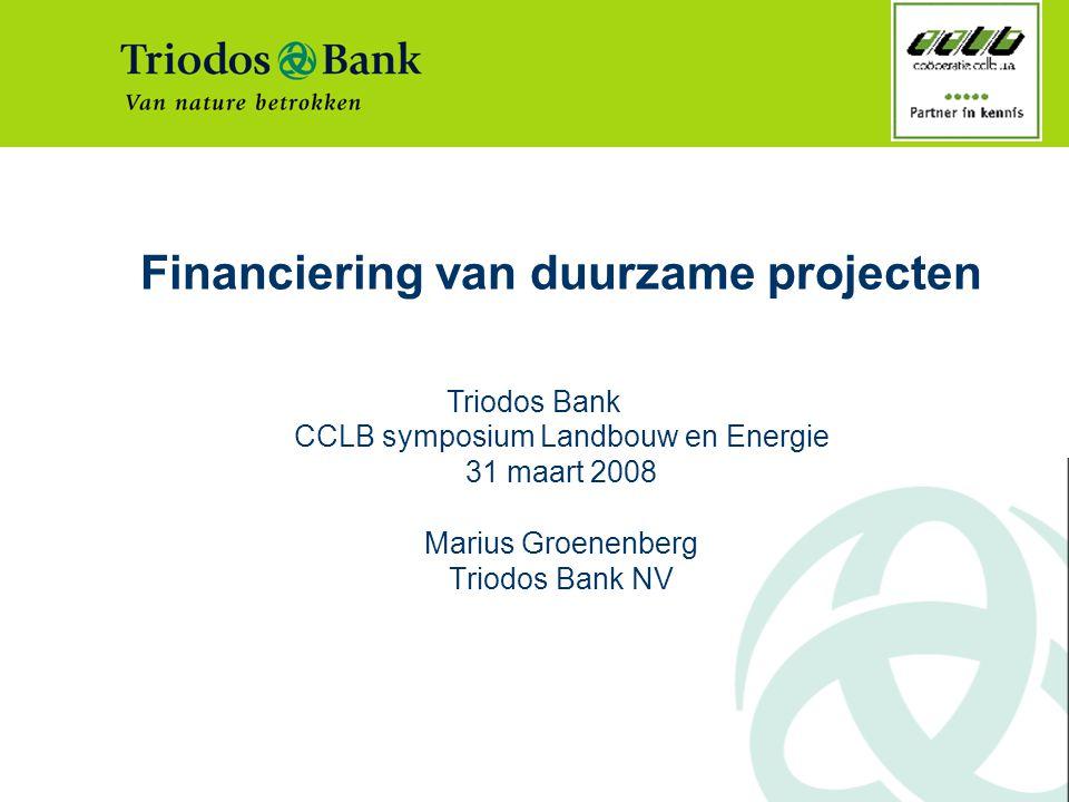Financiering van duurzame projecten
