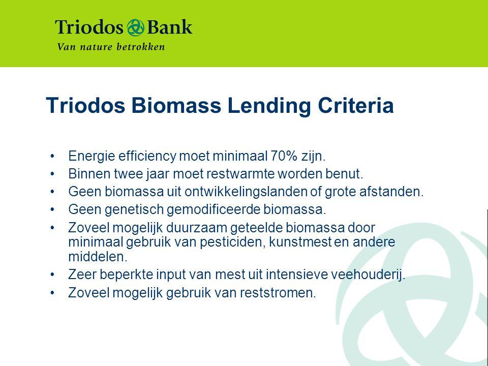 Triodos Biomass Lending Criteria