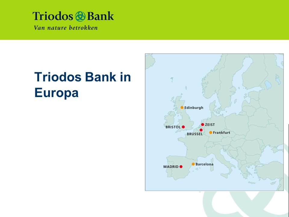 Triodos Bank in Europa