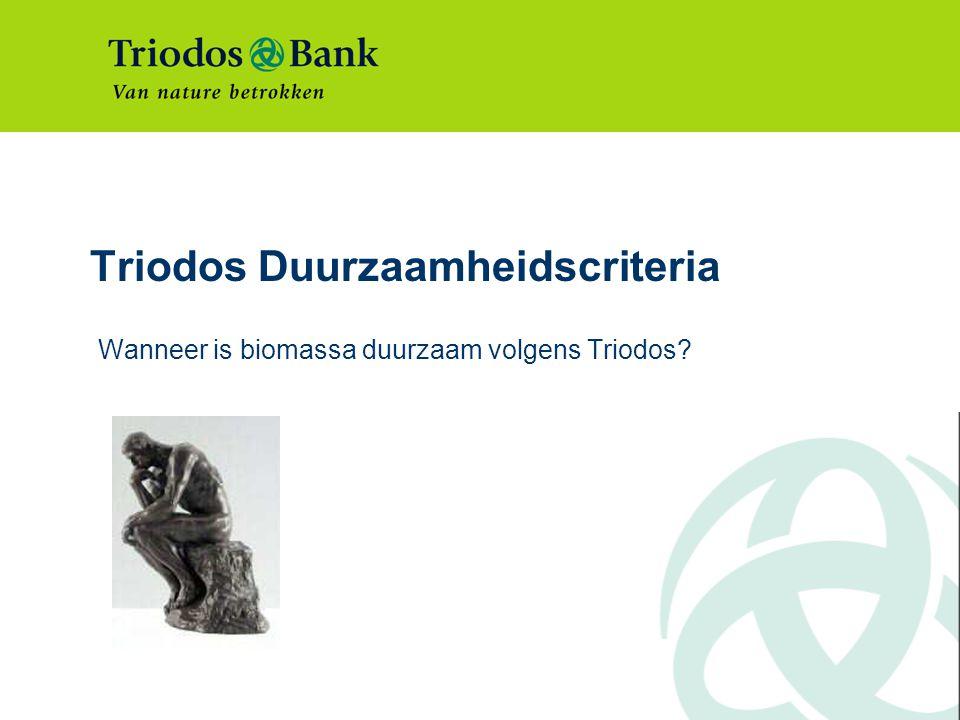 Triodos Duurzaamheidscriteria