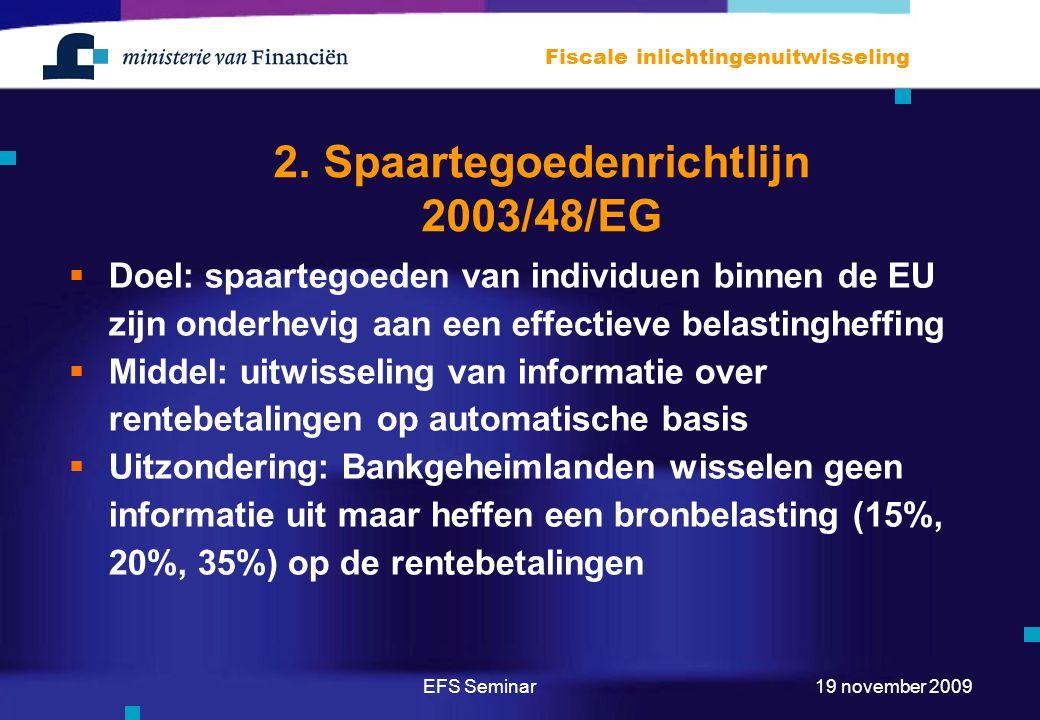 2. Spaartegoedenrichtlijn 2003/48/EG