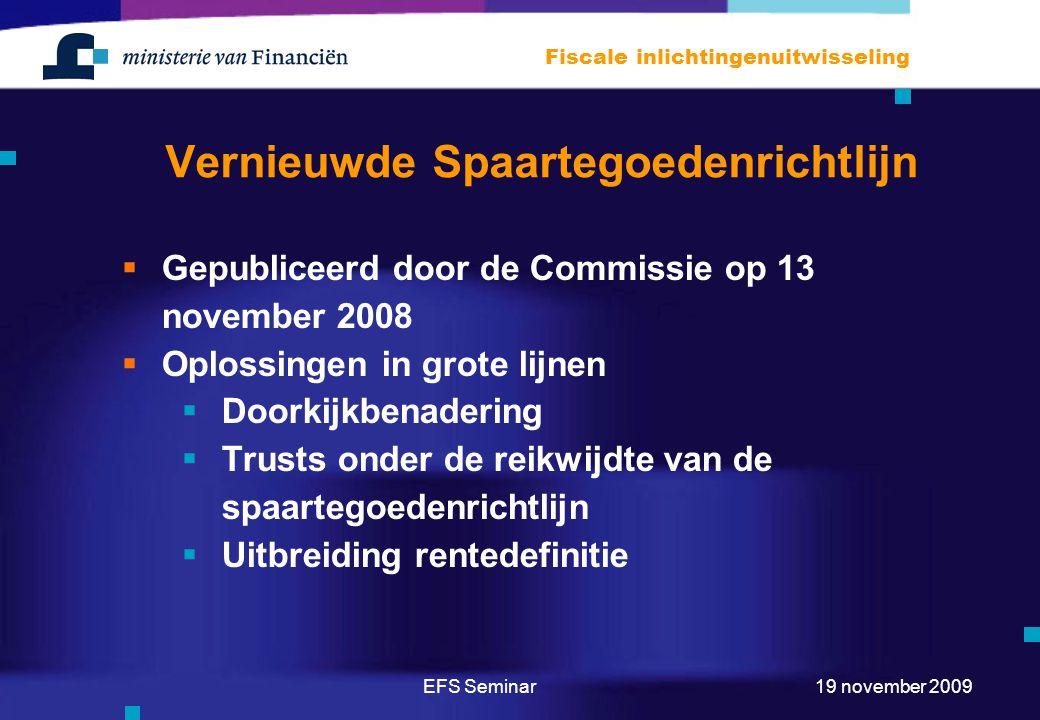 Vernieuwde Spaartegoedenrichtlijn