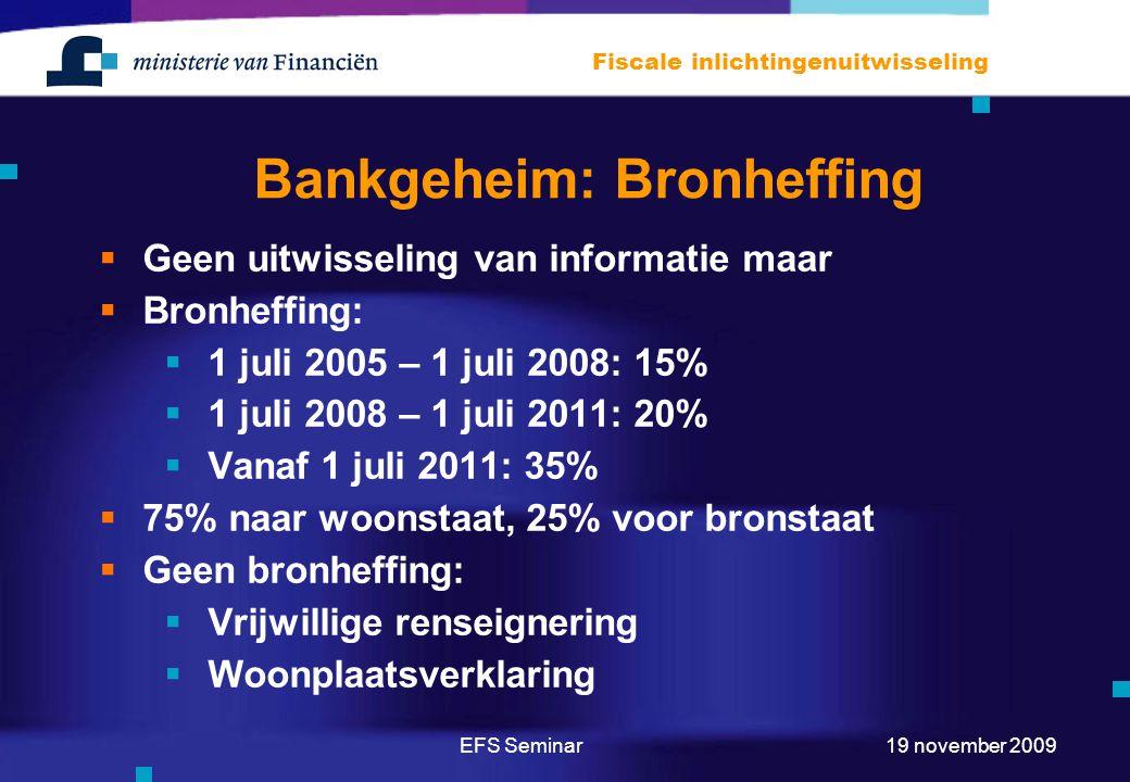 Bankgeheim: Bronheffing