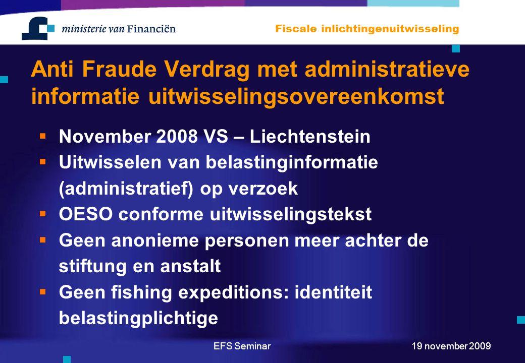 Anti Fraude Verdrag met administratieve informatie uitwisselingsovereenkomst