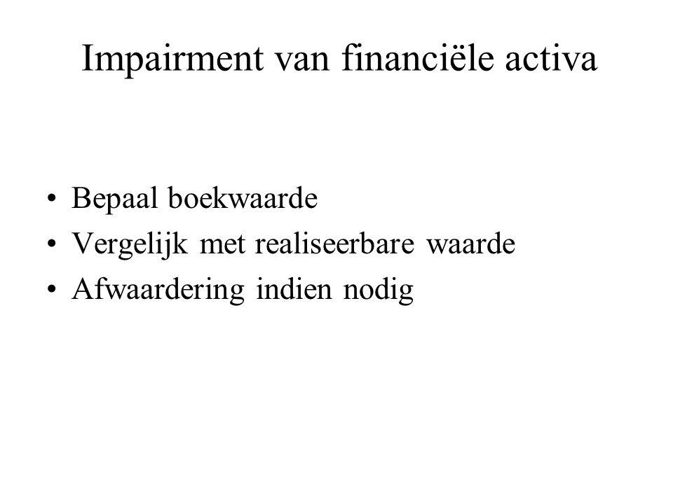 Impairment van financiële activa