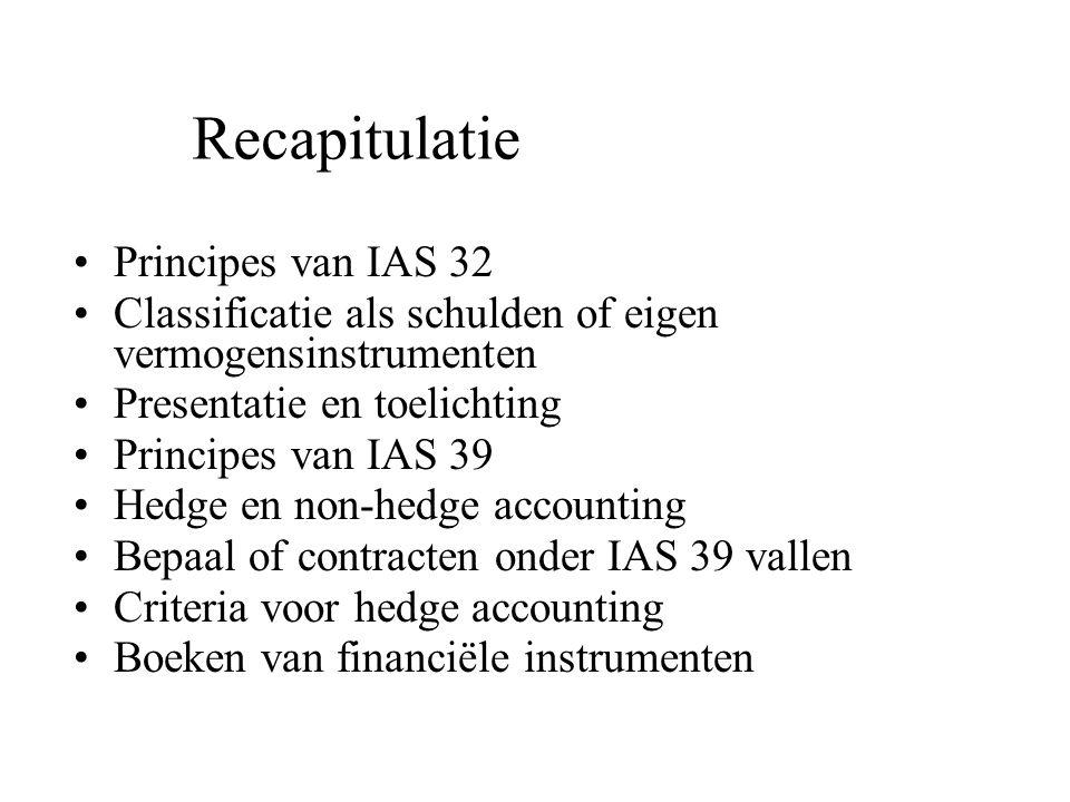 Recapitulatie Principes van IAS 32