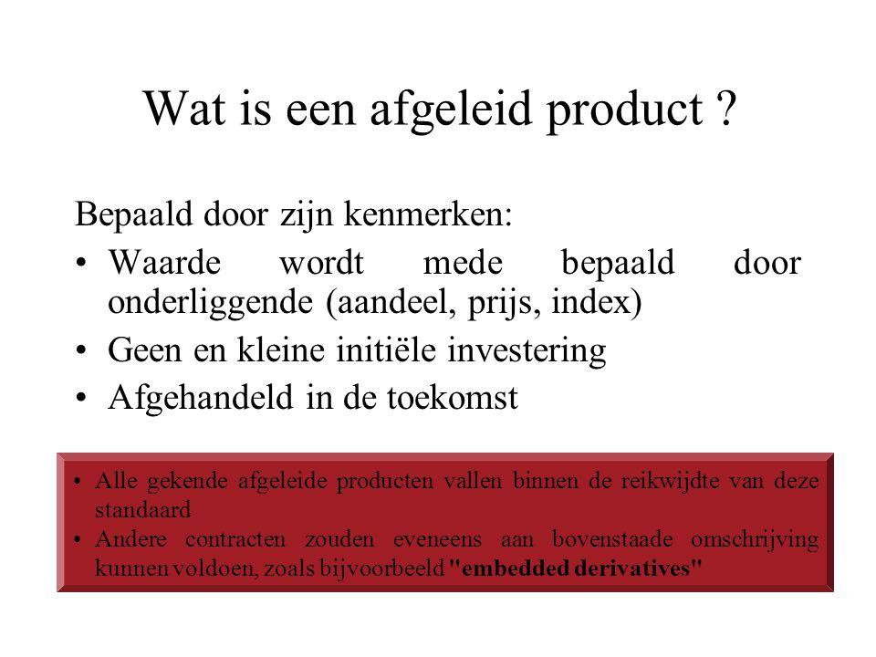 Wat is een afgeleid product