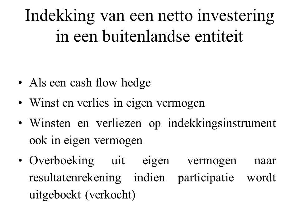 Indekking van een netto investering in een buitenlandse entiteit
